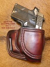 Gary Cs Leather Avenger Rh Holster For Sig Sauer P938 P238 With Ct Laser