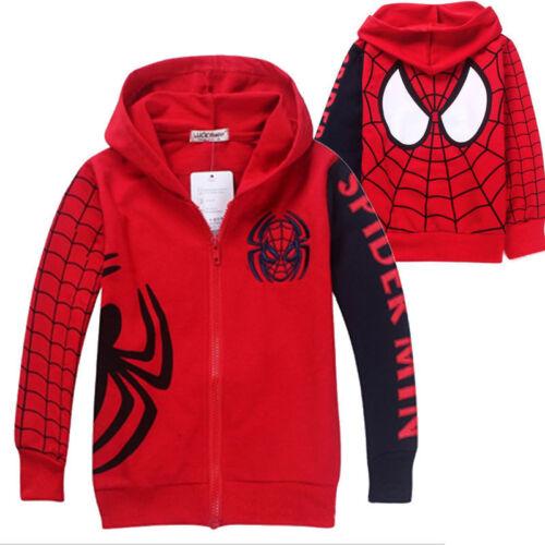 Spiderman Kids Boy Tracksuit Hoodie Sweatshirt Tops Joggers Pants Casual Outfits