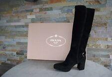 Prada Damen Stiefel Gr 36,5 boots Schuhe shoes 1WP083 schwarz Ziege NEU UVP1100€