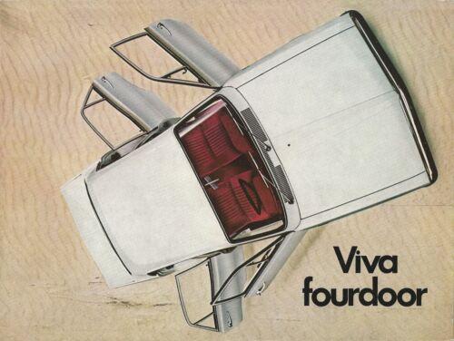 VAUXHALL VIVA 4-PORTA BROCHURE UK V1864 09.68