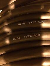 SJO 10/4 flexible black neoprene jacket 10 AWG 4 conductor 25ft coil CAROL CABLE