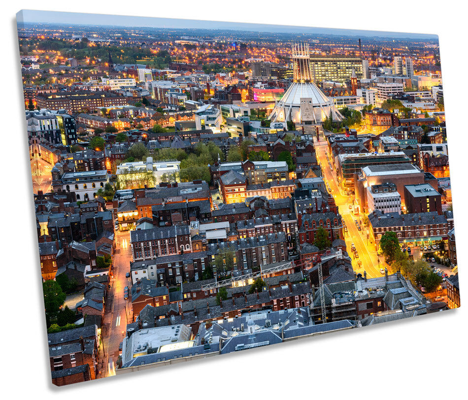 City of Liverpool Skyline CANVAS WALL ART SINGLE Picture Print
