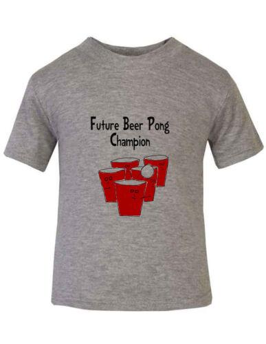 Future Beer Pong Champion Baby Toddler Kid T-shirt Tee 6mo Thru 7t