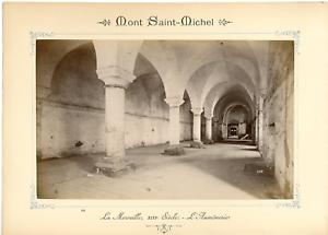 ND-France-Mont-Saint-Michel-La-Merveille-Vintage-albumen-print-Tirage-alb