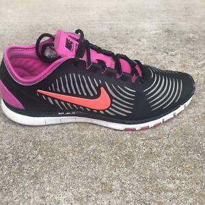 competitive price a1757 db018 Details about Nike Free Balanza Women Sz 7.5 Black Pink Orange Athletic  Training Sneaker Shoe
