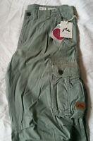 Mens Rusty Army Green Cargo Pants - Size 36