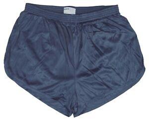 Soffe-Crown-Blue-Nylon-Ranger-Panties-Silkies-Running-Track-Short-Men-039-s-Medium