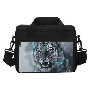 1dcc6c717eb7 Details about Vivid Tiger Printing Insulated Cooler Lunch Bag Picnic Lunch  Box Food Containers