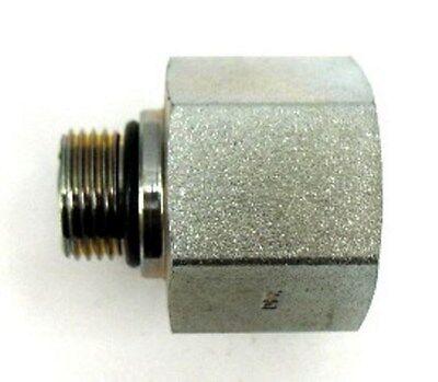 Steel 5//8 in Female JIC 37/° Flare x 5//8 in Male O-Ring Boss 4 Units Straight Adapter Brennan