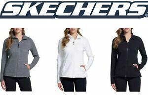 Sketchers-Go-Walk-Women-039-s-Snuggle-Fleece-Mock-Zip-Jacket-SIZE-amp-COLOR-VARIETY