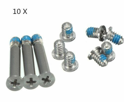 "10PC Bottom Back Case Cover Screw Screws Set for MacBook Pro Series 13/"" 15/"" 17/""^"