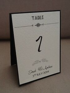 Details About 1 X Handmade Personalised Table Number Name Cards Art Deco Vintage Style