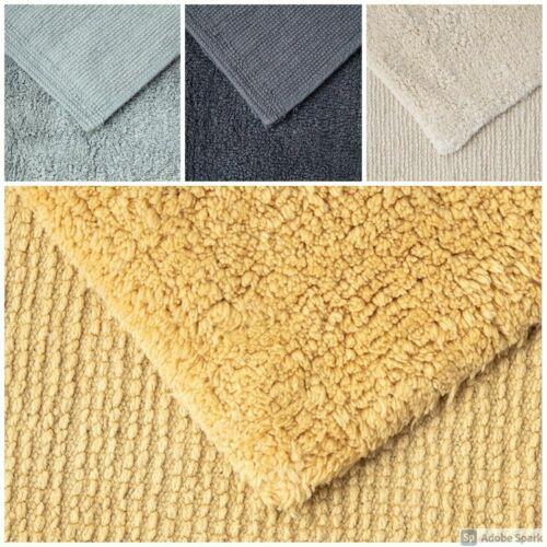 Luxury 100/%Cotton Super Soft Rug Water absorbent Shaggy Area Floor Mats 50 x 80