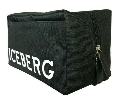 Karl Lagerfeld Travel Toiletry Wash Bag Black for Men Him