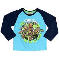 Teenage Mutant Ninja Turtles T-Shirt TMNT Boys Long Sleeve Top Ages 2-8 Official