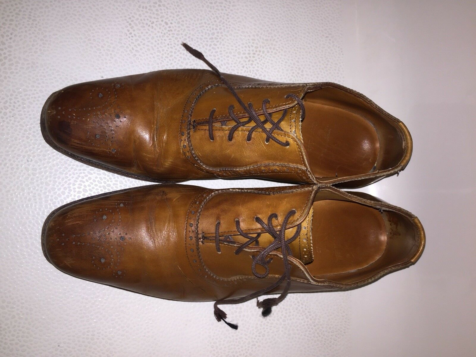 Allen Edmonds Cornwallis Walnut Leather Oxford Dress shoes 11 D