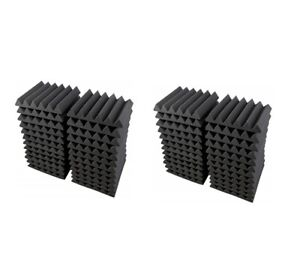Acoustic Foam 48 Pack 12x12x2 Wedge Soundproofing Recording Noise Deadening