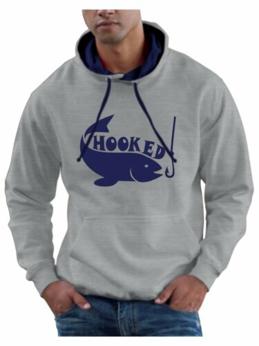 Mens Fishing Hoodie Jumper Hooded Sweatshirt Smartphone Compatable