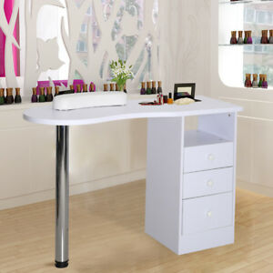 Nails Art Care Salon Manicure Table Desks Workstation Bar With 3 ...