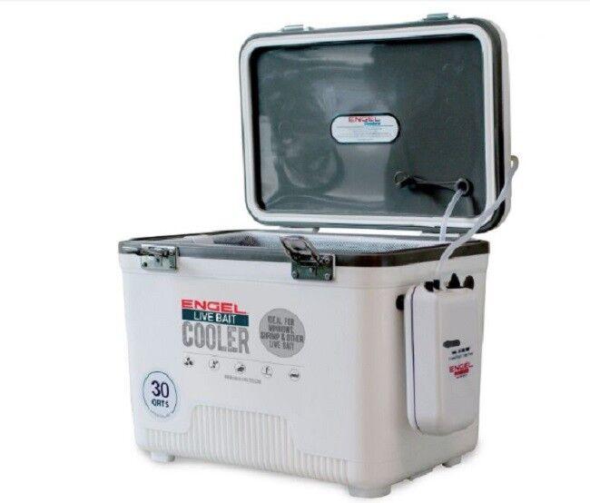 New Engel Live Bait Cooler  30qt Fishing Box  lightning delivery