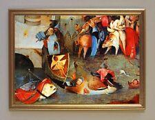 Hieronymus Bosch Garten der Lüste um 1500 Antonius Faksimile 5 im Goldrahmen