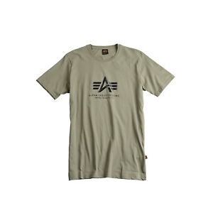 ALPHA-INDUSTRIES-t-shirt-de-base-olive-vert-vert-olive-Logo-T-Shirt-100501