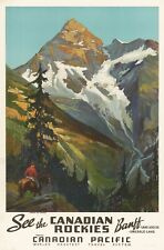 TX37 Vintage 1936 Banff Canadian Rockies Canada Travel Poster Re-Print A1//A2//A3