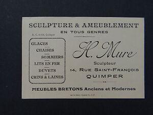 Carte De Visite CDV QUIMPER MURE Meuble Breton