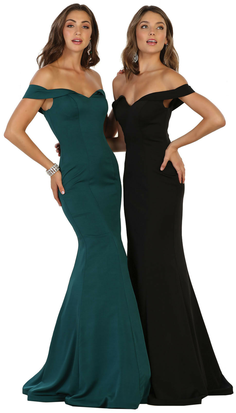 NEW PROM OFF THE SHOULDERS EVENING GOWNS SPECIAL OCCASION MERMAID STRETCHY DRESS