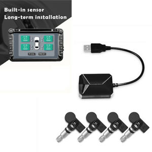 TPMS-mit-4-eingebauten-Sensoren-Reifendruckkontrollsystem-fuer-Android-Auto-DVD