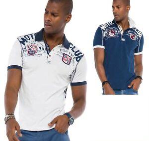 Cipo-amp-Baxx-Herren-Jungen-Party-T-Shirt-Polo-Shirt-CT486-kurzarm