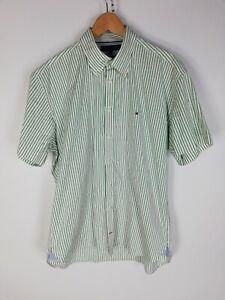 TOMMY-HILFIGER-Camicia-Maniche-Corte-Shirt-Maglia-Chemise-Camisa-Hemd-Tg-XL-Uomo
