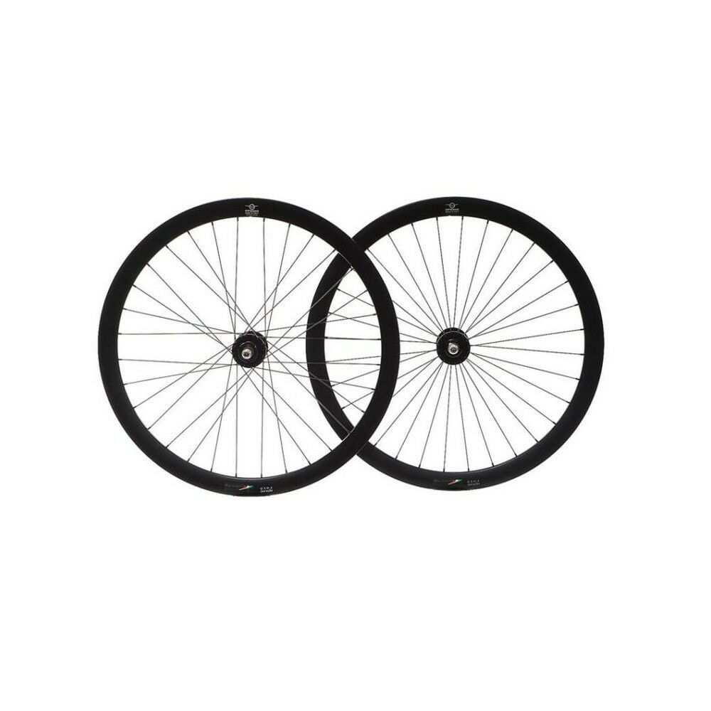 Set Ruote bicicletta fixed pista single speed flipflop Gipiemme 30mm Nero