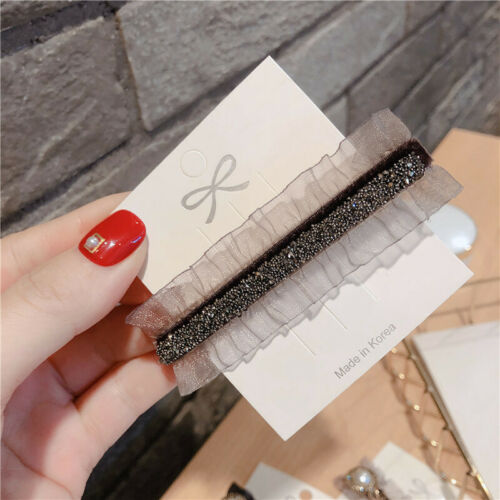 Women Lace Square Czech Drill for Barrette Hair Pin Clips Hair Clip Accessories