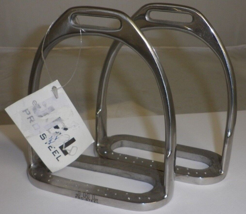 JHL Pro  Steel Stirrup Irons Size 4   at the lowest price