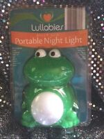 Lullabies Belly Glo Rechargeable Green Frog Night Light White N Color Changing