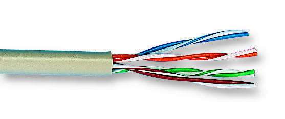 Cable/wire - Networking - CABLE 4 PAIR 100M CAT6 GREY