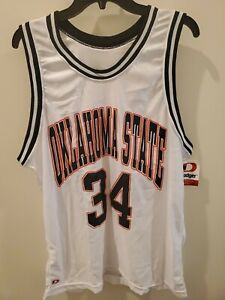 new concept 2d975 29f0c Details about New Vintage Dodger NCAA Oklahoma State Cowboys Basketball  Jersey #34 Size Large