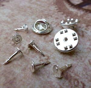100 petite cravate punaises papillon pince arrière pins embrayage lapel scatter pin silver-afficher le titre d`origine gr2yVery-07203342-213724224