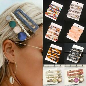 Charm-Women-Girl-Hair-Slide-Clips-Snap-Barrette-Hairpin-Pins-Hair-Accessories