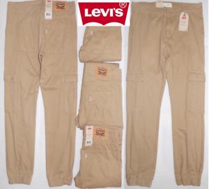 afc75c55a New Levis Boys Twill Cargo Jogger Pants Sizes 12, 16, 18, 20 Khaki ...