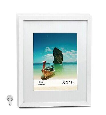 "CAVEPOP 11x14/"" Mat 8x10/"" Picture Frame 5 Pieces Set Walnut Wood"