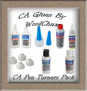 Stick Fast Pen Turning Finish Kit CA Cyanoacrylate Thin Medium Free Shipping