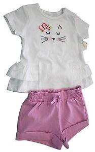 baby Gap NWT Girls 12 18 Mo Butterfly Bodysuit /& Yellow Knit Waist Shorts