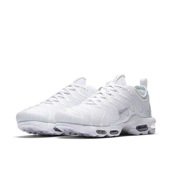 Nike Air Max Plus TN Ultra Triple White Shoes 898015-102 / SIZE US 9.5 |