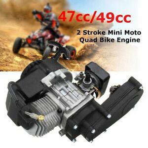 49cc-2-Stroke-Engine-Motor-Electric-Pull-Start-w-Transmission-Mini-Moto-Quad