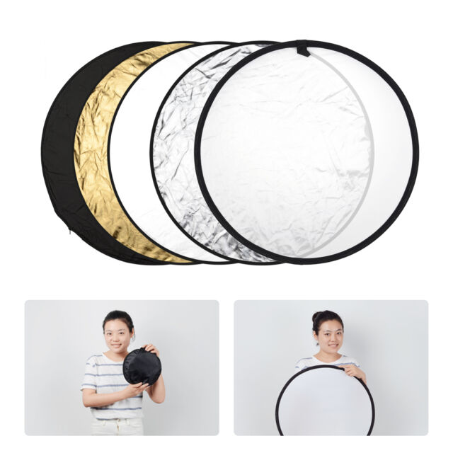 "5-In-1 Collapsible 24"" Multi Light Disc Reflector for Photo Studio Photography"