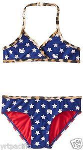 2db31a920c Hello Kitty Little Girls' Stars and Stripes Bikini Set 2 PCs 4 5/6 ...