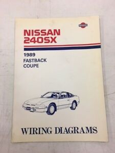 1989 nissan 240sx 240 sx factory shop service repair wiring diagrams rh ebay co uk  1989 nissan 240sx ignition wiring diagram