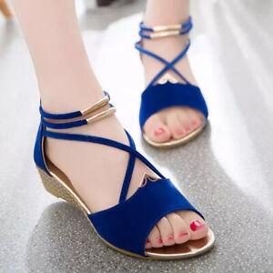Women-Summer-Leisure-Beach-Sandals-Peep-Toe-Shoes-Casual-Flat-SOCOFY